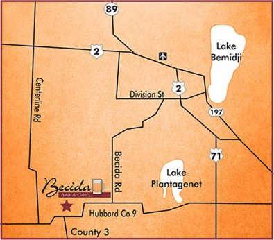 becida bar and grill map